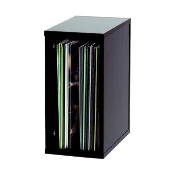 Casier Rangement 55 Vinyles Finition Noir