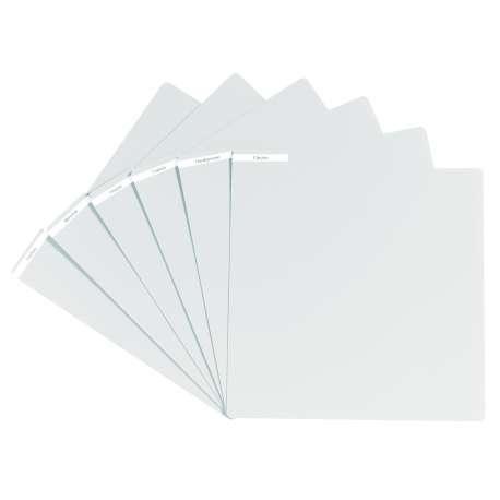 Intercalaire pour vinyles finition blanche